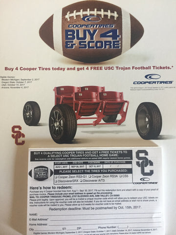 Cooper Tires: USC Trojan Football Tickets