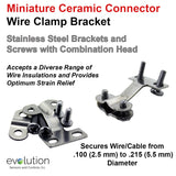 Thermocouple Connector Accessories Miniature Ceramic Wire Clamp Bracket