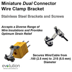 Thermocouple Connector Accessories Miniature Dual Wire Clamp Bracket