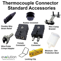 Type J Standard Size Thermocouple Connector Accessories