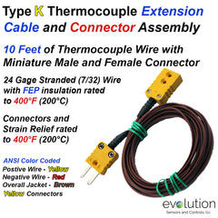 Thermocouple Extension Cable Assembly