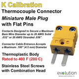 Thermocouple Connector Miniature Male Type K