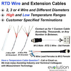 RTD Wire and Extension Cables