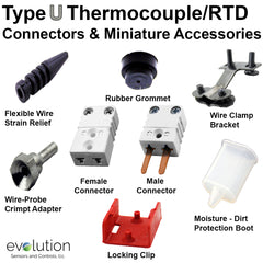 RTD Miniature Male 2 Pin Connector Accessories