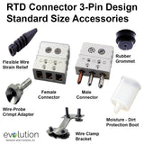 RTD Connector 3-Pin Design Standard Size Accessories