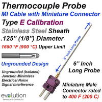Thermocouple Sensor Type E Ungrounded 6