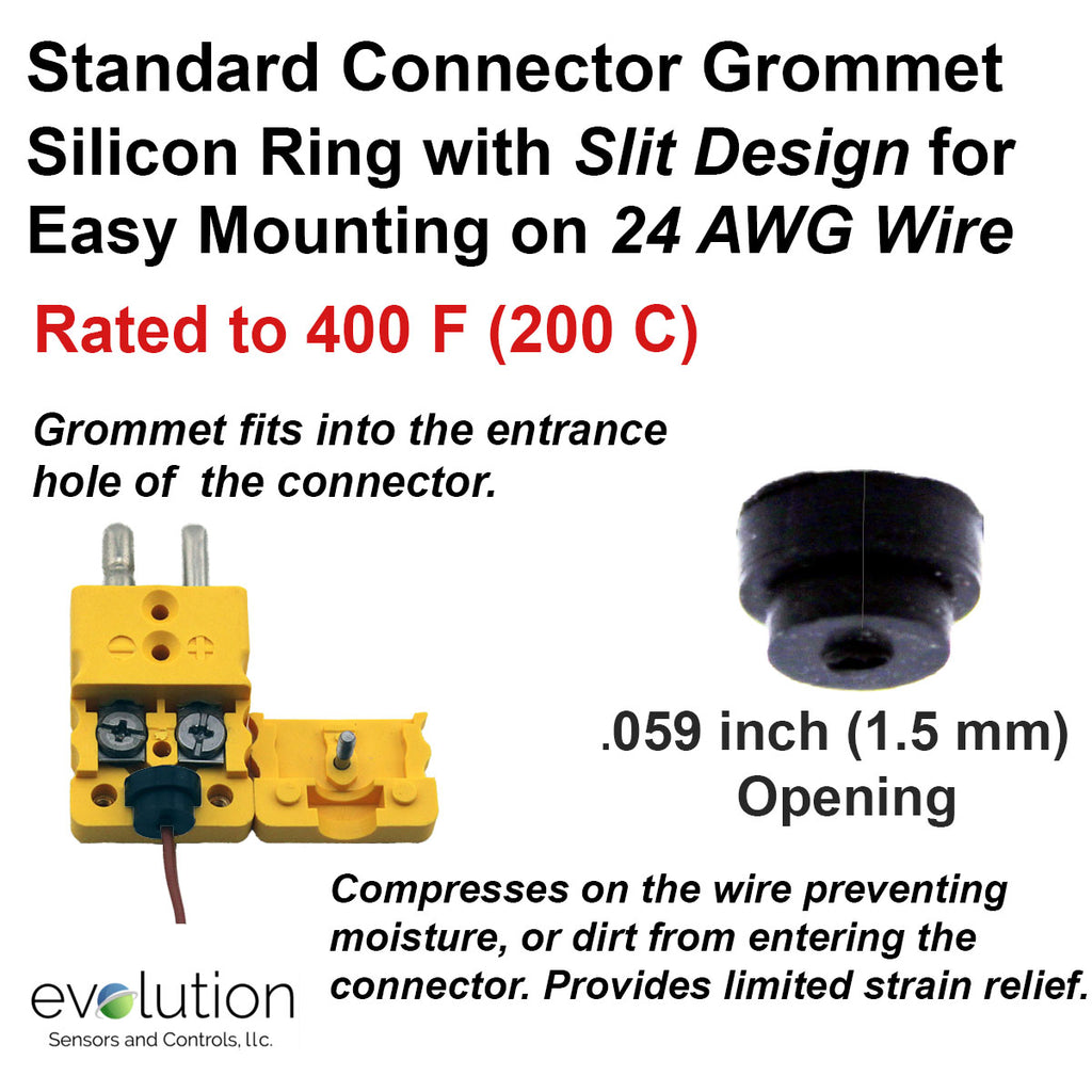 Thermocouple Connector Accessories Standard Grommet for 24 AWG Wire