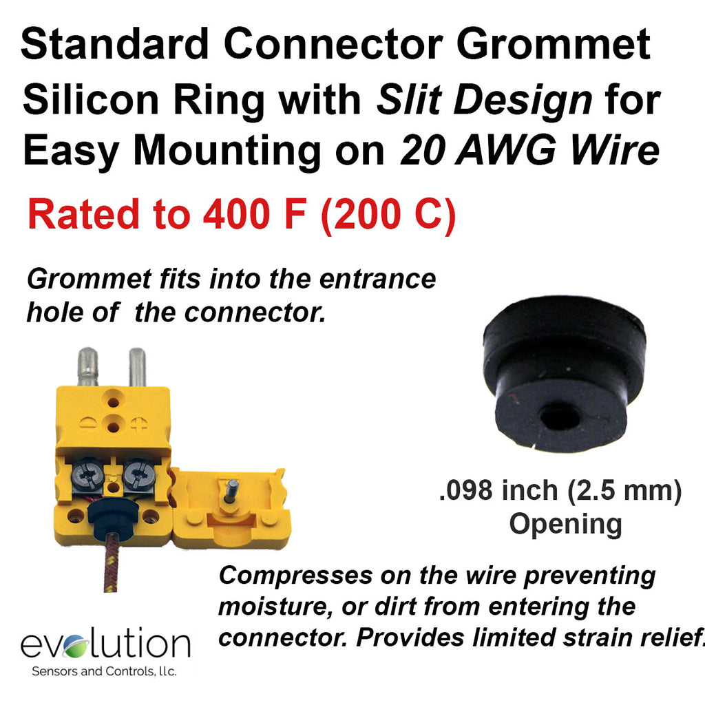 Thermocouple Connector Accessories Standard Grommet for 20 AWG Wire