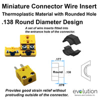 Miniature Thermocouple Connector Accessories, Miniature Wire Insert, Type