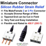 Miniature Connector Silicon Rubber Wire Strain Relief