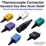 Thermocouple Connector Accessories Standard Size Strain Relief Assemblies
