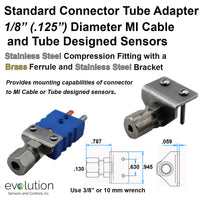 Standard Thermocouple Connector Accessories, Standard Tube Adapter, Type