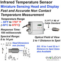 Miniature Infrared Temperature Sensor and Display
