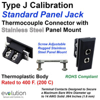 Type J Thermocouple Panel Jack