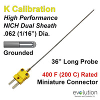 Thermocouple Sensor Type K Grounded 36