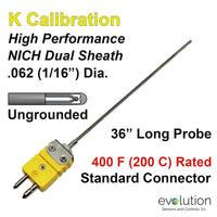 Thermocouple Sensor Type K Ungrounded 36