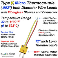 Ultra Fine Type K Thermocouple .002