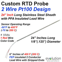 2 Wire RTD Probe Pt100 with 24