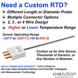 RTD Probe with Connector Custom Design