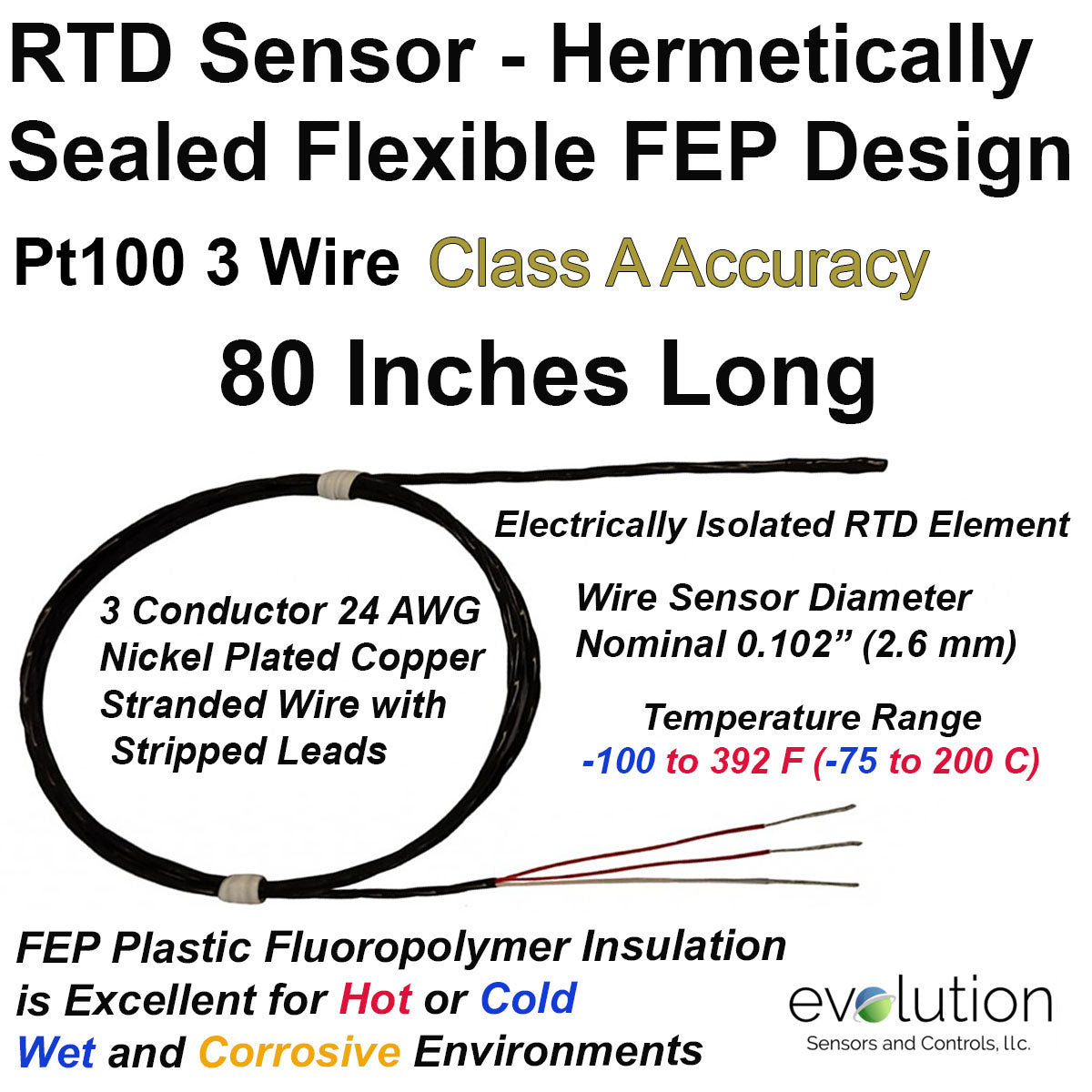 Hermetically sealed rtd sensor fep insulated 3 wire class a accuracy hermetically sealed rtd sensor fep insulated 3 wire class a accuracy 80 long greentooth Image collections
