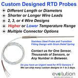 Custom Designed RTD Probe with Transition Fitting and Lead Wire