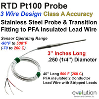 RTD Metal Transition to Lead Wire - 3