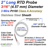 Short Length RTD Pt100 Probe -2