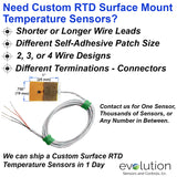 RTD Surface Temperature Sensor 4 Wire Design Custom