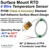 Surface Mount RTD 4 Wire Temperature Sensor