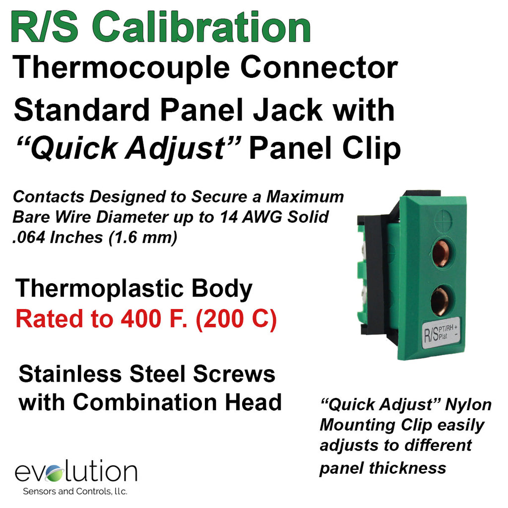Thermocouple Panel Jacks, Standard Panel Jack, Type RS