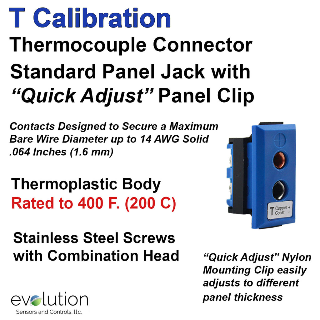 Thermocouple Panel Jacks, Standard Panel Jack, Type T
