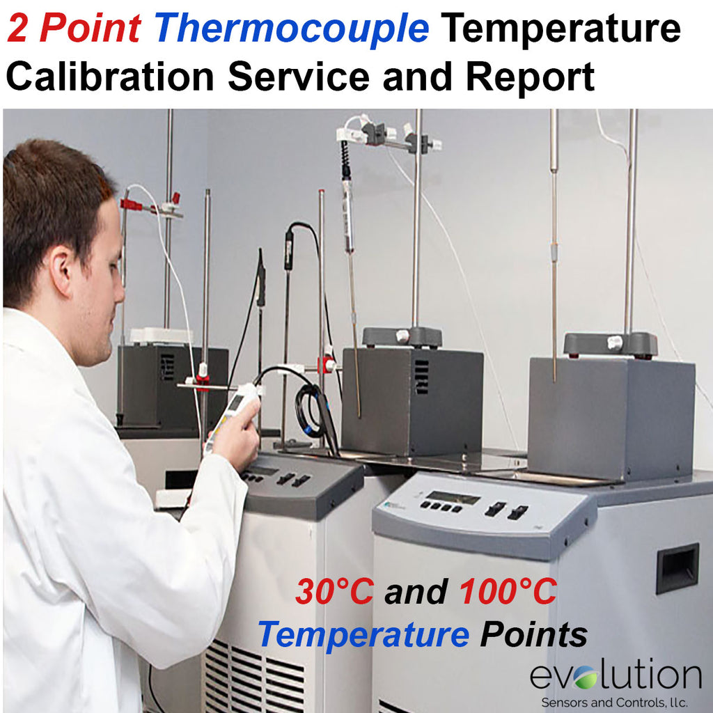2 Point Thermocouple Temperature Calibration Service and Certificate
