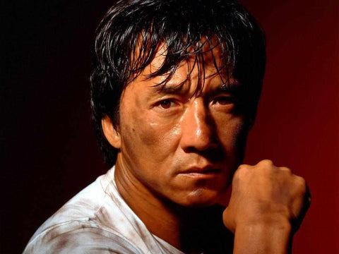 Jackie Chan known for his death defying stunt work and innovative fight choreography