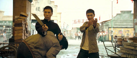Ip Man (Donnie Yen) and his first Wing Chun student Leung Sheung (Huang Xiaoming)