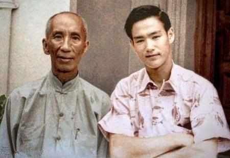 Real life Ip Man and Bruce Lee