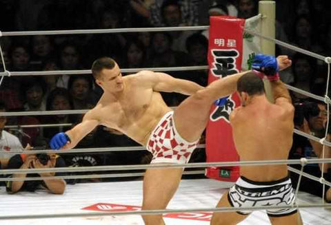 Mirko Cro Cop was the most feared striker in MMA at one point. He had great sprawl and brawl, but the ring also helped.
