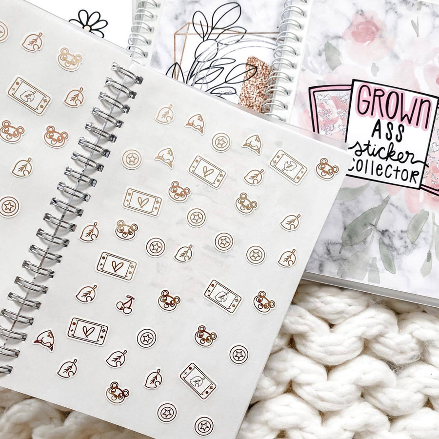Sticker Reusable Book: Blush Lined