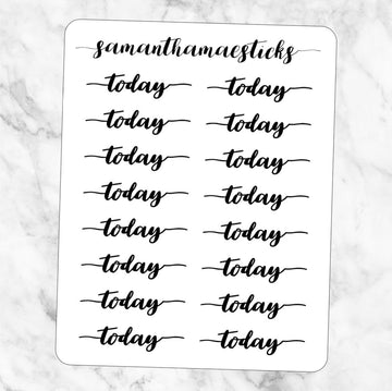 Today Script Words