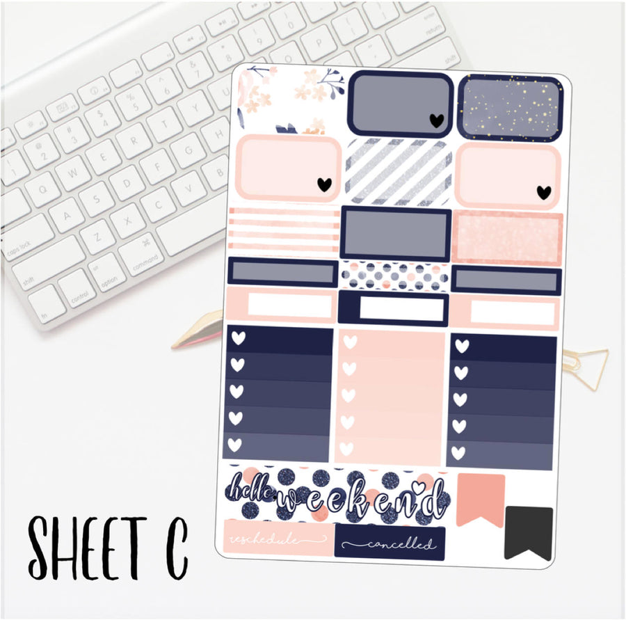 Navy & Peaches Mini Kit