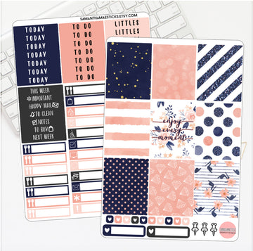 Navy & Peaches Vertical Kit