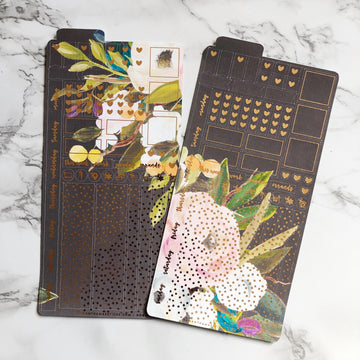 HK002 Dark Florals Hobonichi Weeks Sticker Kit