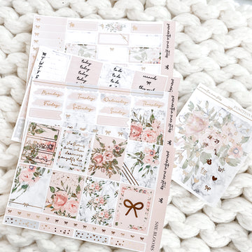 She Blooms Foiled Four Page Full Vertical Kit | RTS
