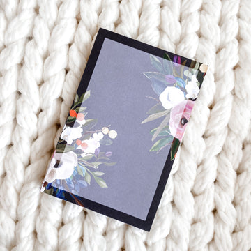 Dark Floral NotePad (6x4)