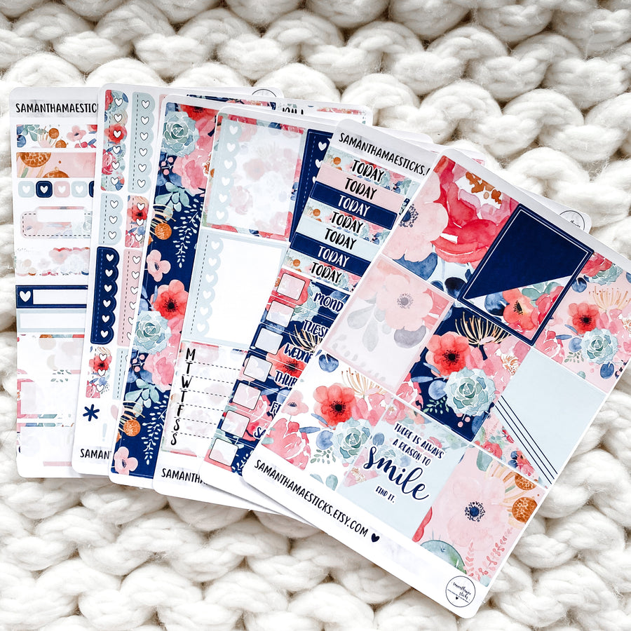 PEONY BLISS SIX PAGE VERTICAL KIT