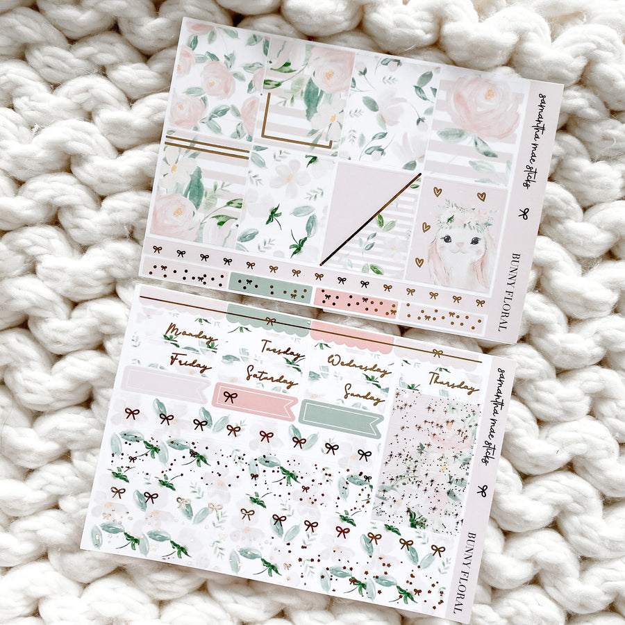 BUNNY FLORALS FOUR PAGE VERTICAL KIT | RTS