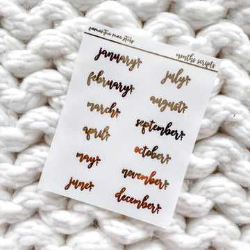 Clear Months Foiled Bows Scripts | RTS