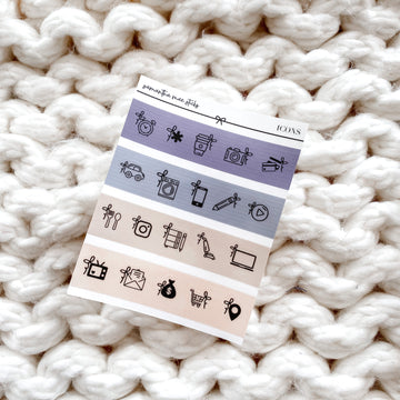 Muted Transparent Bow Icon Sampler