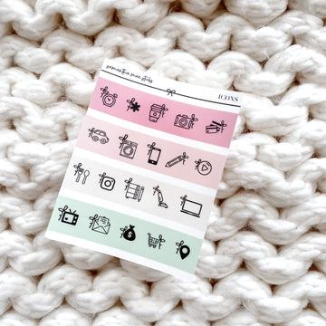 Strawberry Ice Cream Transparent Bow Icon Sampler