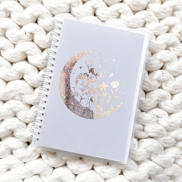 Sticker Reusable Book: Moon Floral Gray