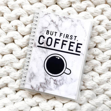Sticker Reusable Book: Marble But First Coffee